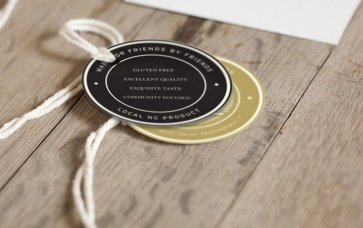 Distillery tag design for Social House Vodka • created by Goodness creative studio in Raleigh NC