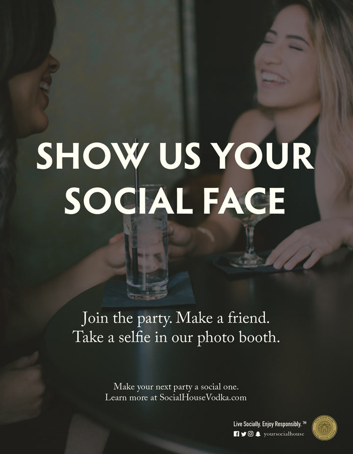 Poster design for Social House Vodka developed by Goodness creative studio