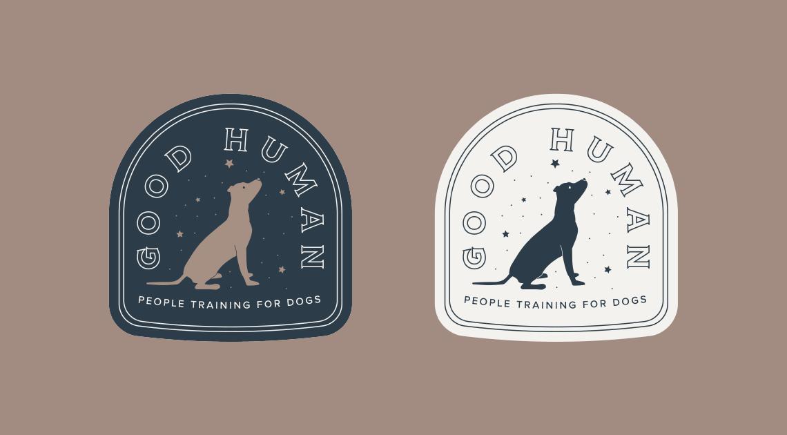 Good Human Dog Training logo badge design