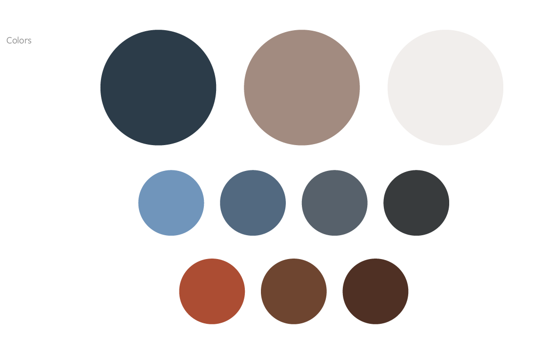 Identity Design: color palette system for a dog training company