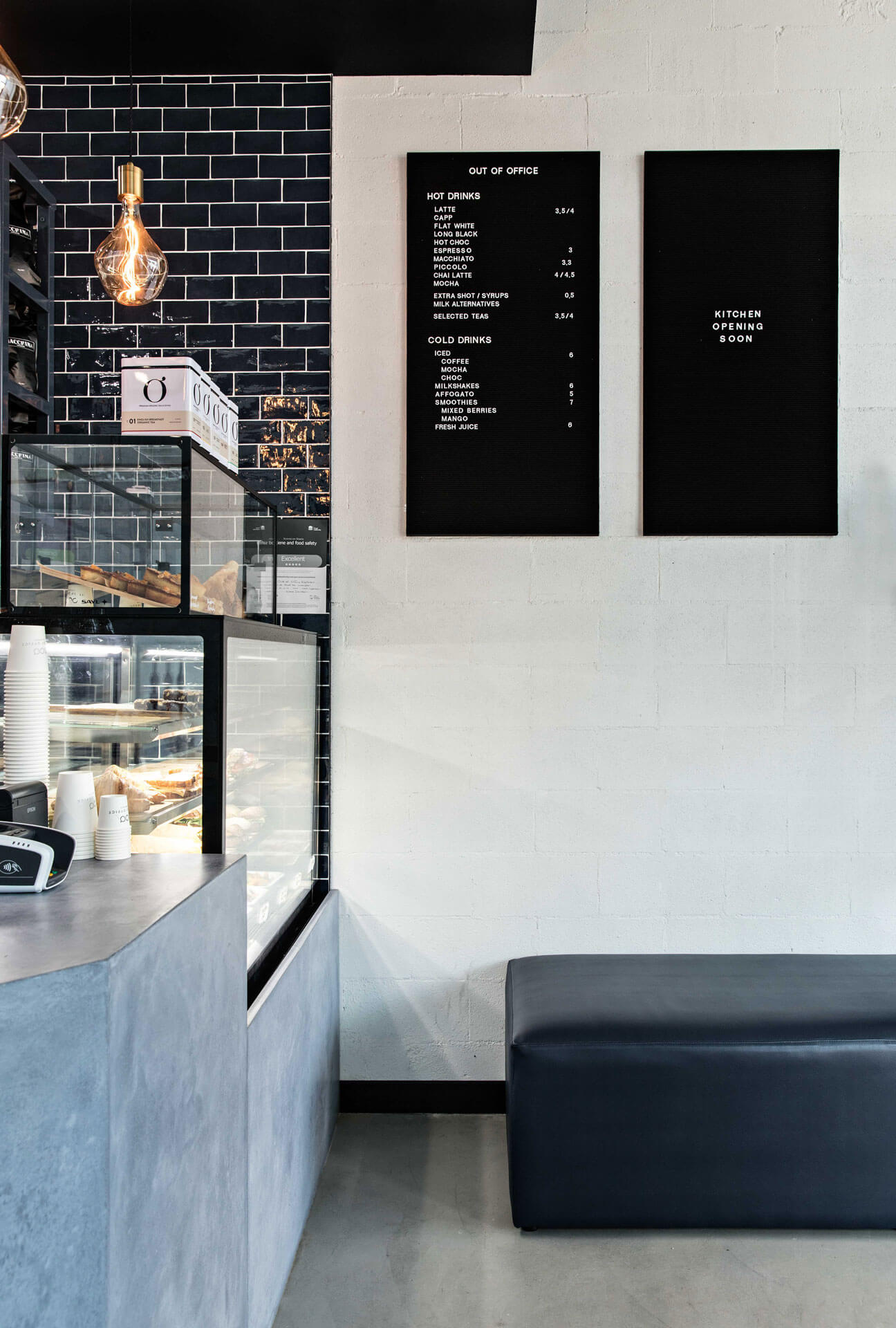 interior styling of cafe menu design