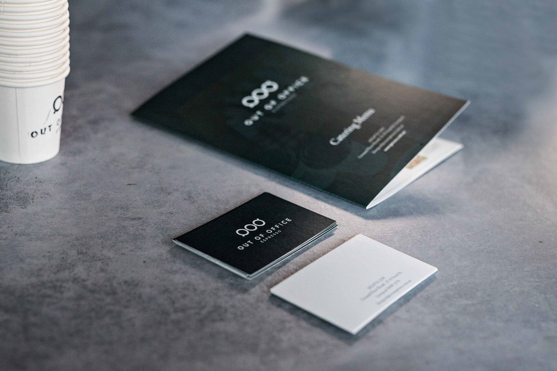 brochure and business card design for cafe