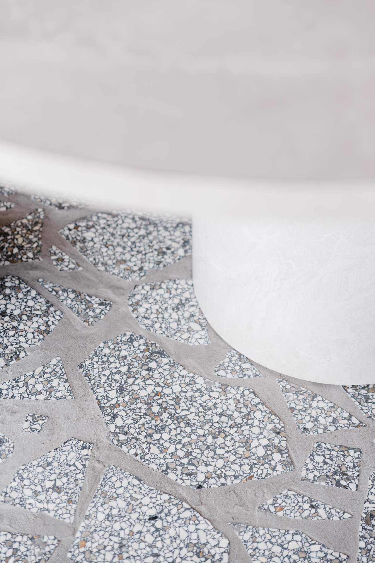 Crazy pave flooring close up