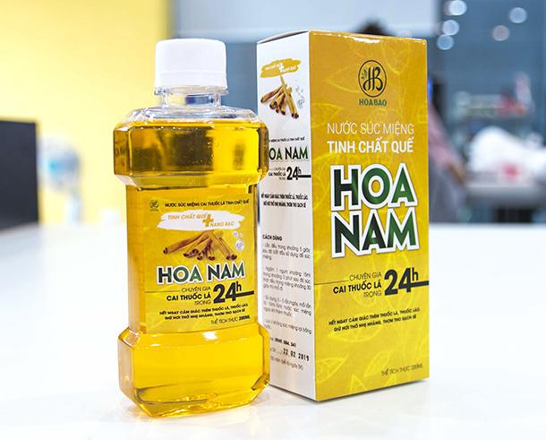 Nước súc miệng cai thuốc lá HOA NAM mua ở đâu, giá bao nhiêu, có tốt không?
