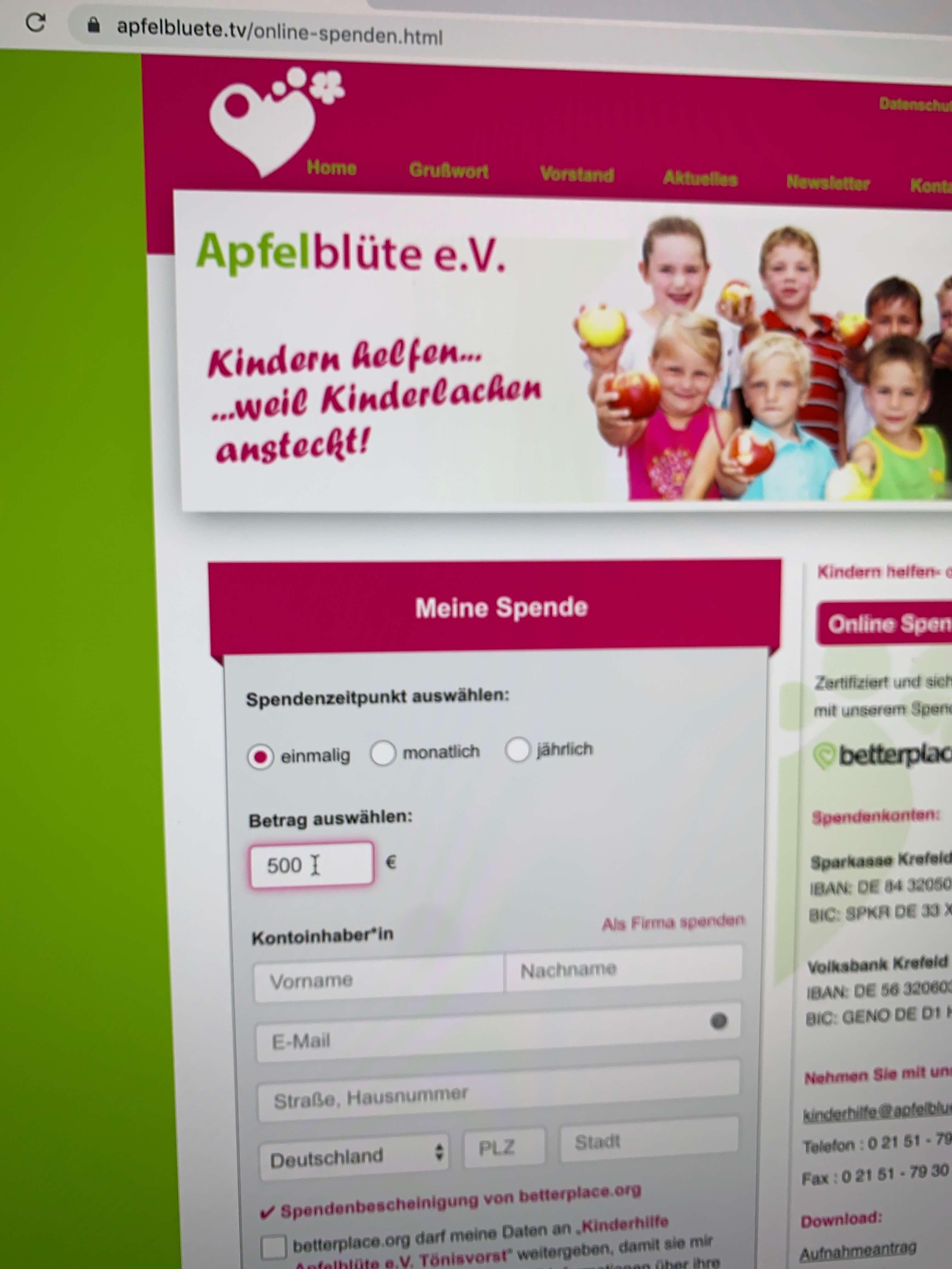 Verein Apfelblüte.