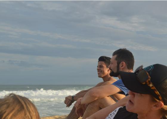 Sitka team photo on a beach