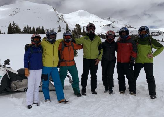 Sitka team photo in snow