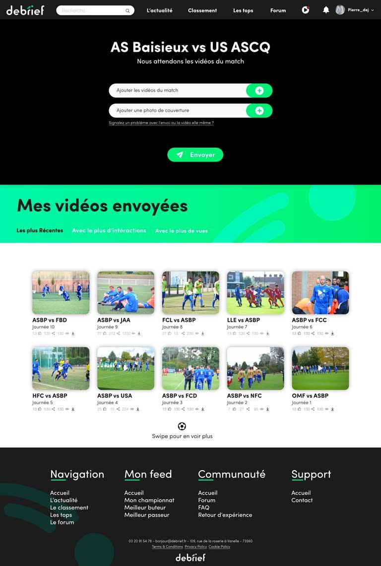 Debrief page vidéo Dejonghe