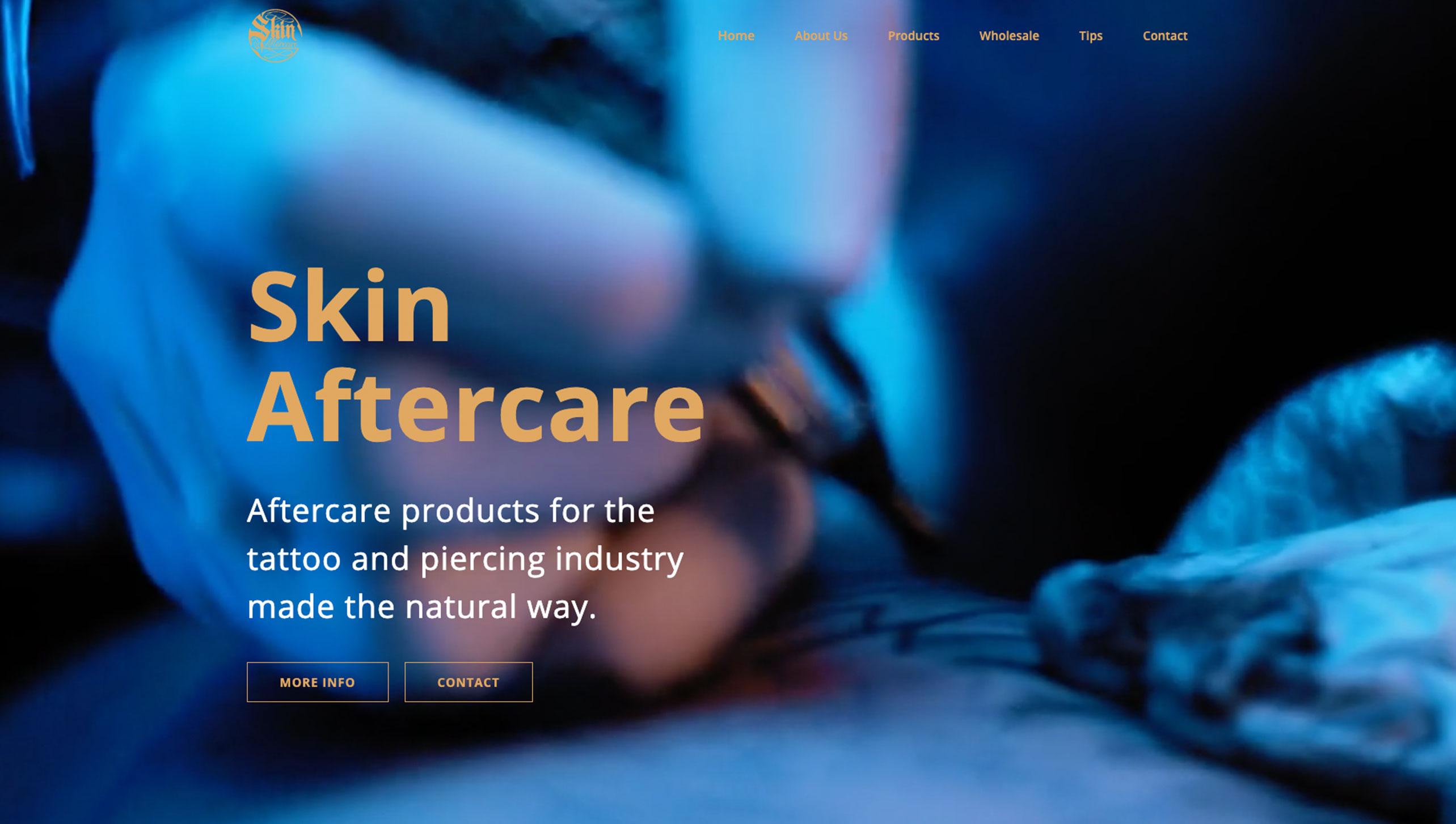 Skin Aftercare Website Image