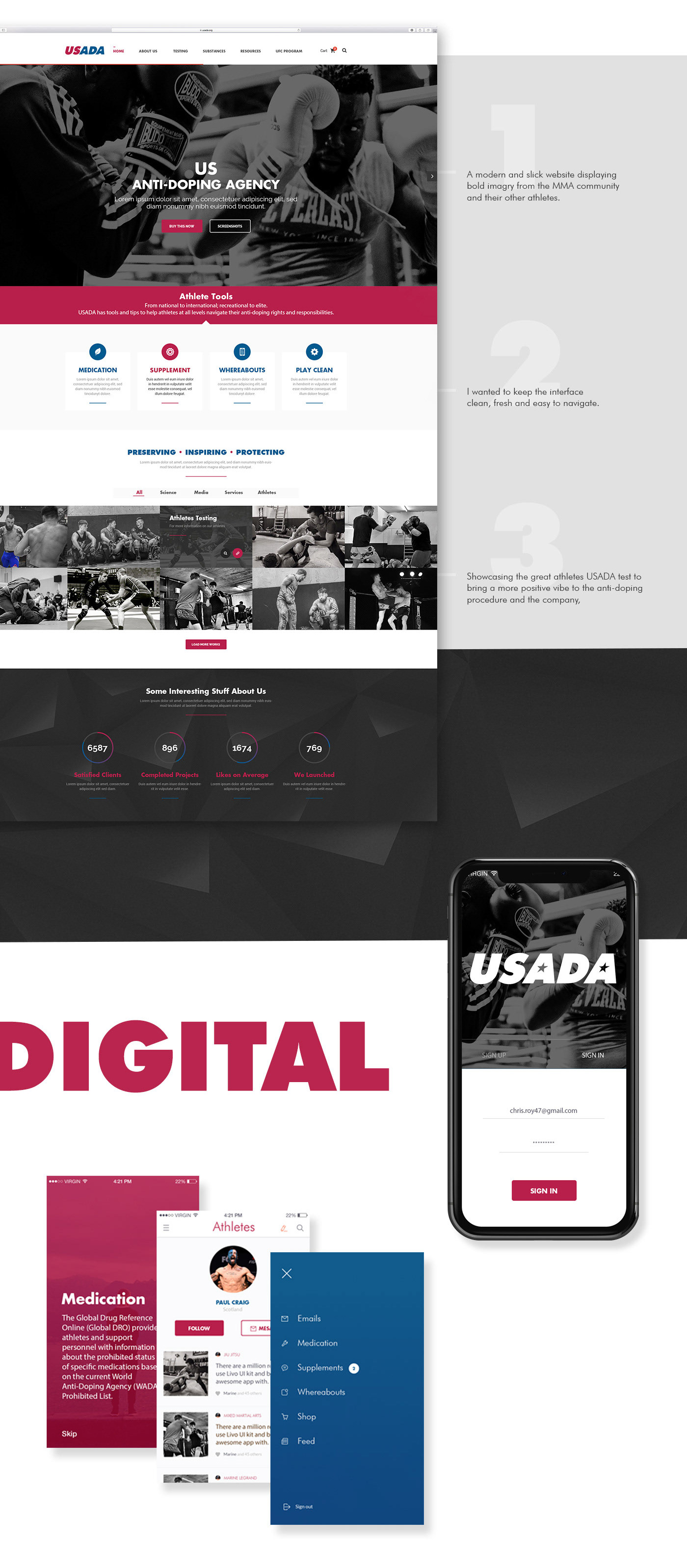 USADA Website Design