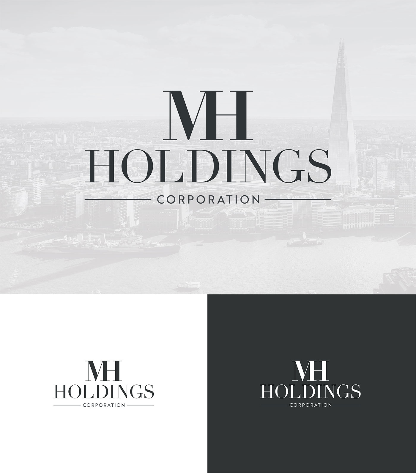 MH Holdings Logo Design