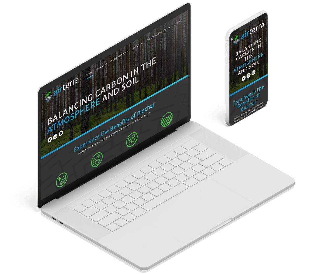 AirTerra Responsive Web Design mocked up in Devices