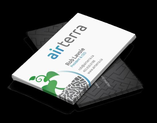 AirTerra Business Cards Print Design