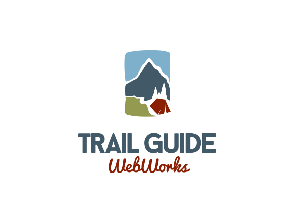 Trail Guide WebWorks Logo - White Background, Colored Text