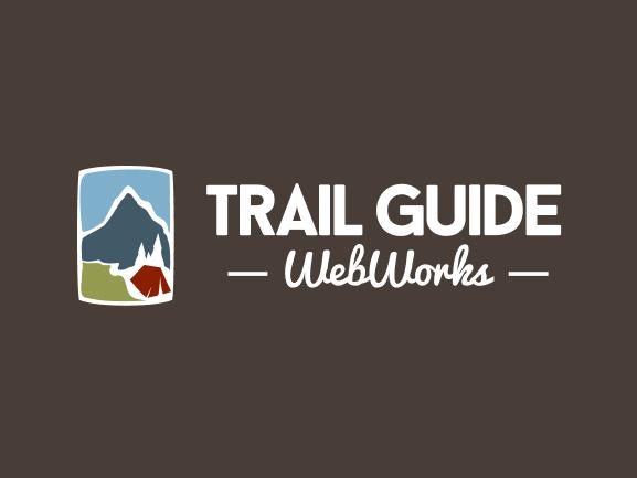 Trail Guide WebWorks Logo - Brown Background