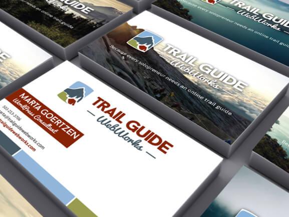 Photo 2: Trail Guide WebWorks Business Card Print Design