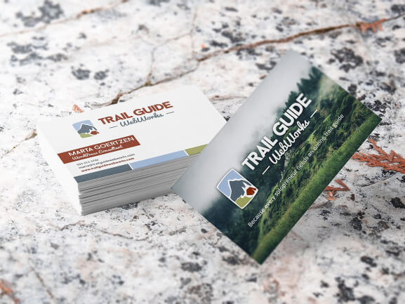 Photo 1: Trail Guide WebWorks Business Card Print Design