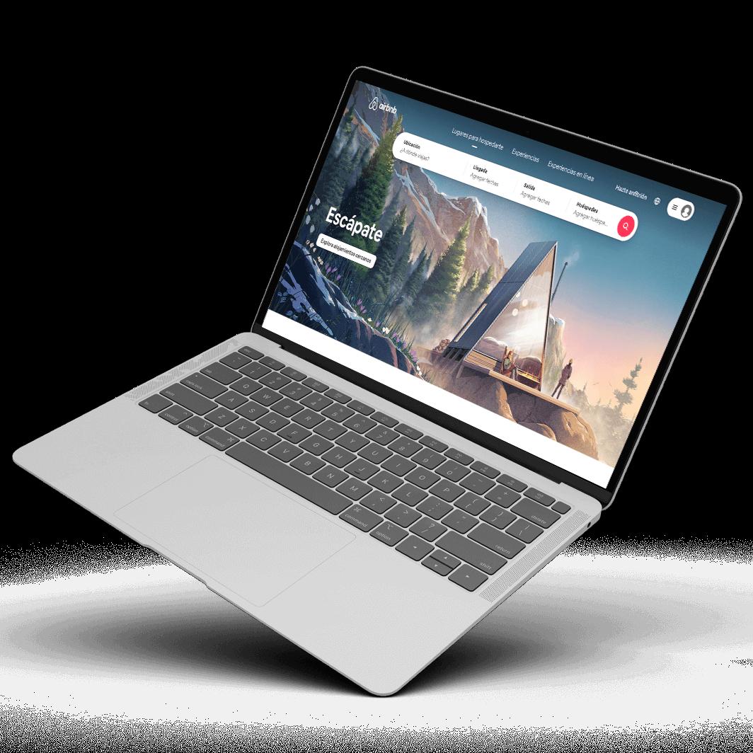 Airbnb laptop mockup