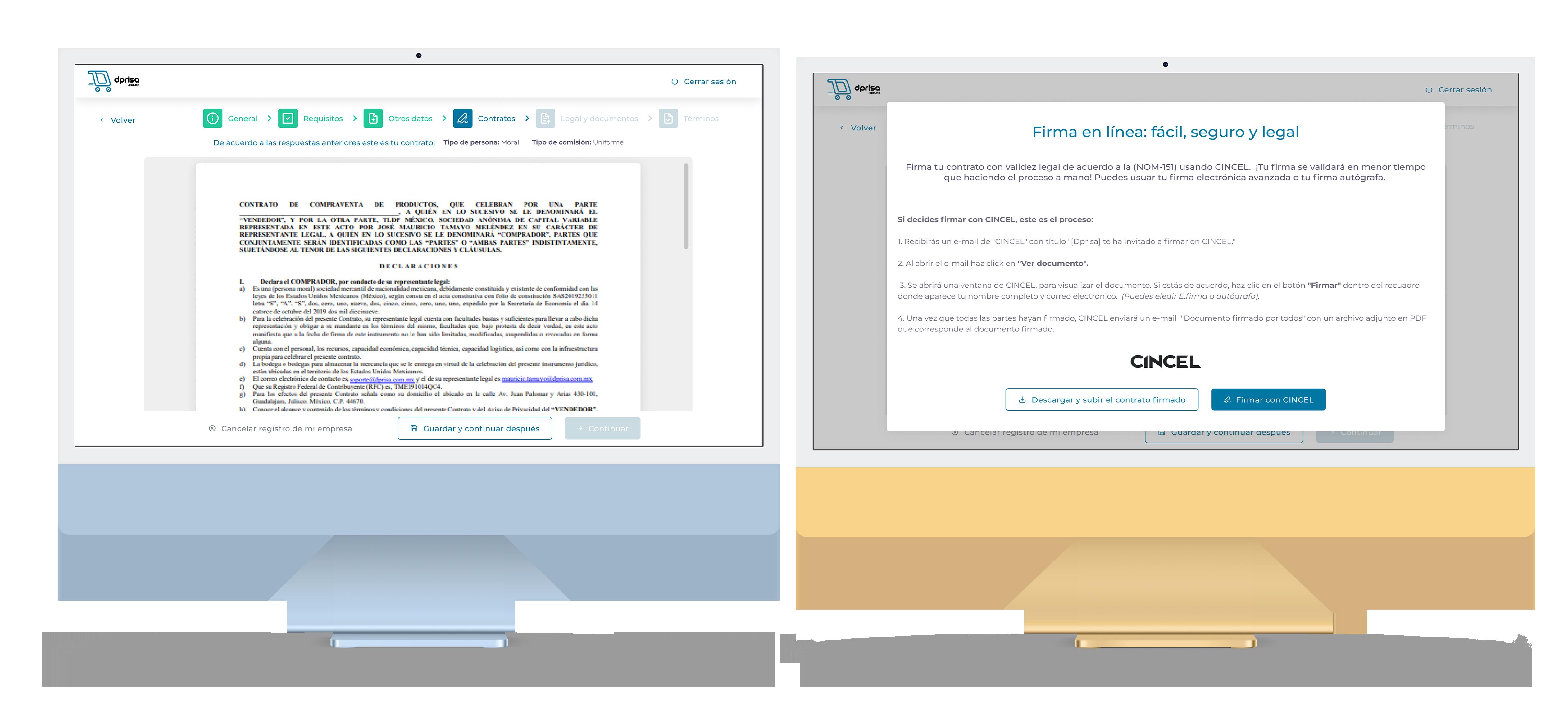Formulario de Registro de usuario.