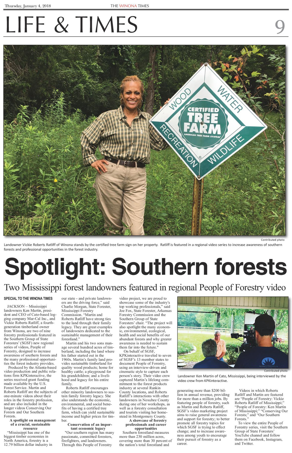 "Atlanta Public Relations and Copy Writing Example - SGSF ""People of Forestry"" Campaign"