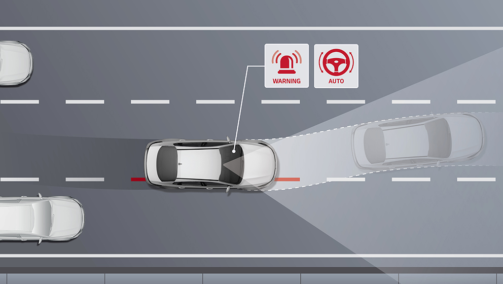 clipart of car showing automatic driving