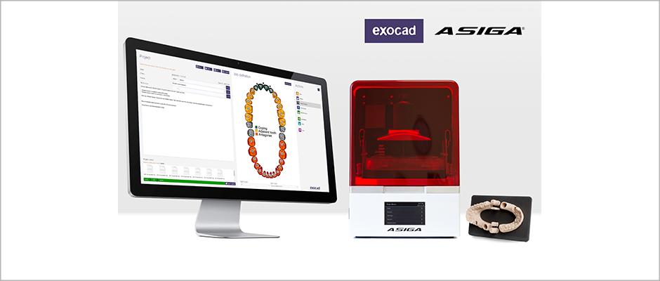 PARTNER-NEUIGKEITEN: Asiga 3D-Drucker jetzt mit exoprint von exocad integriert