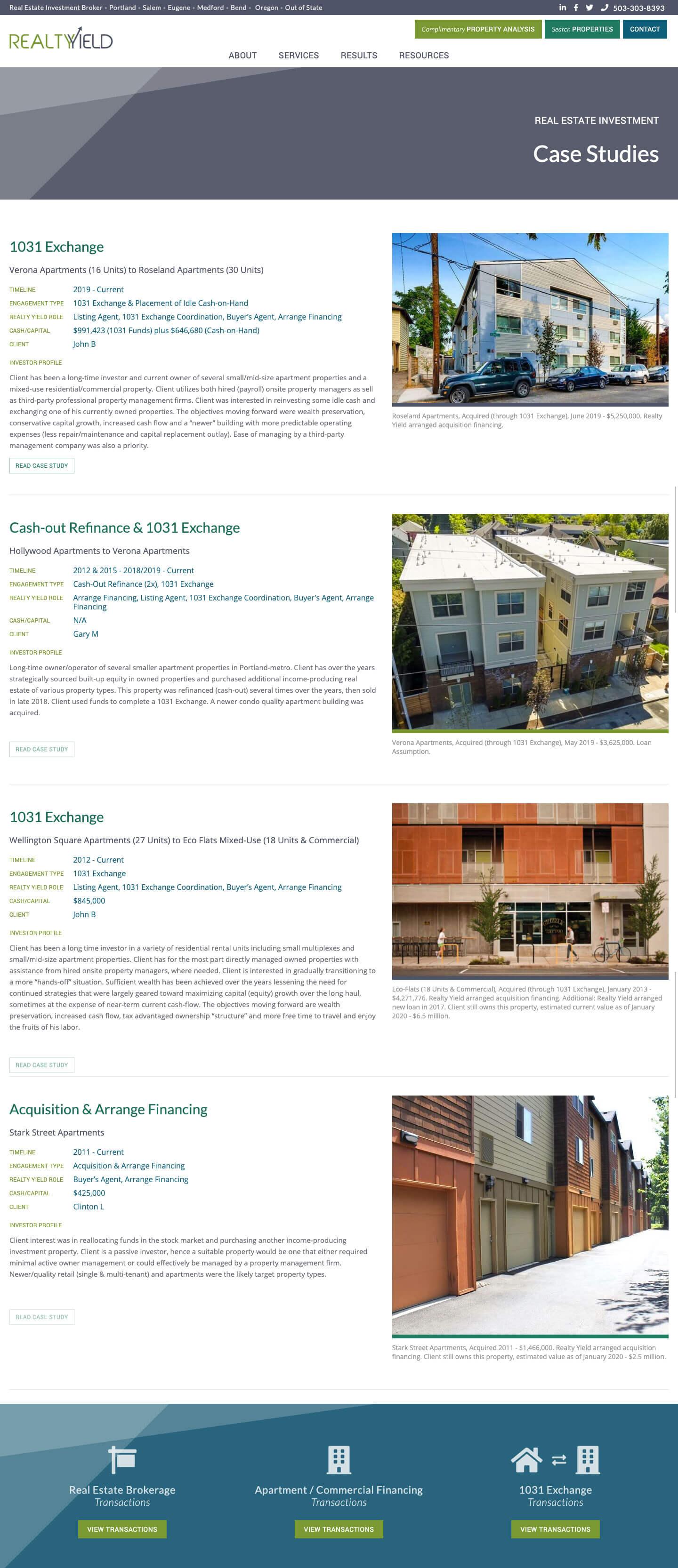 Case Studies Page