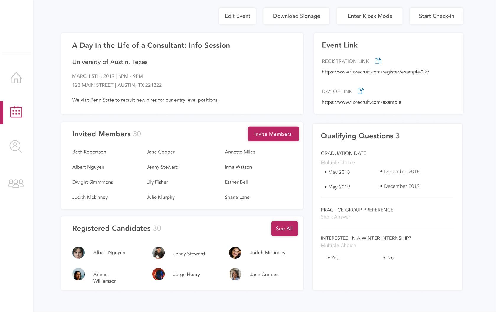 Info Session Screenshot