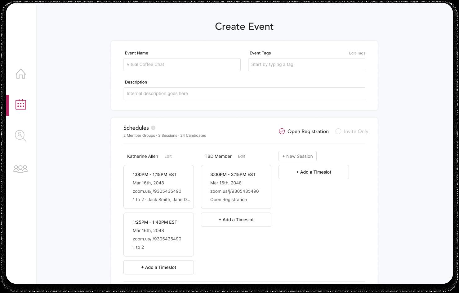 Workshop Event Screenshot