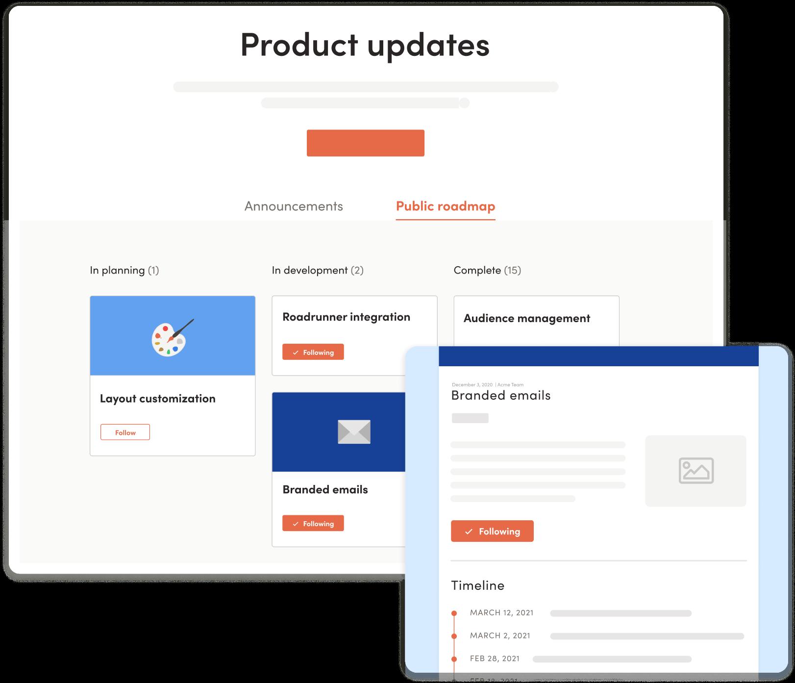 LaunchNotes categories