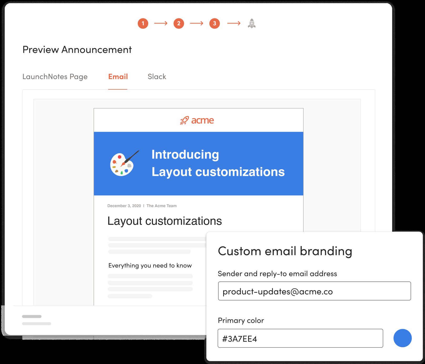 LaunchNotes custom views