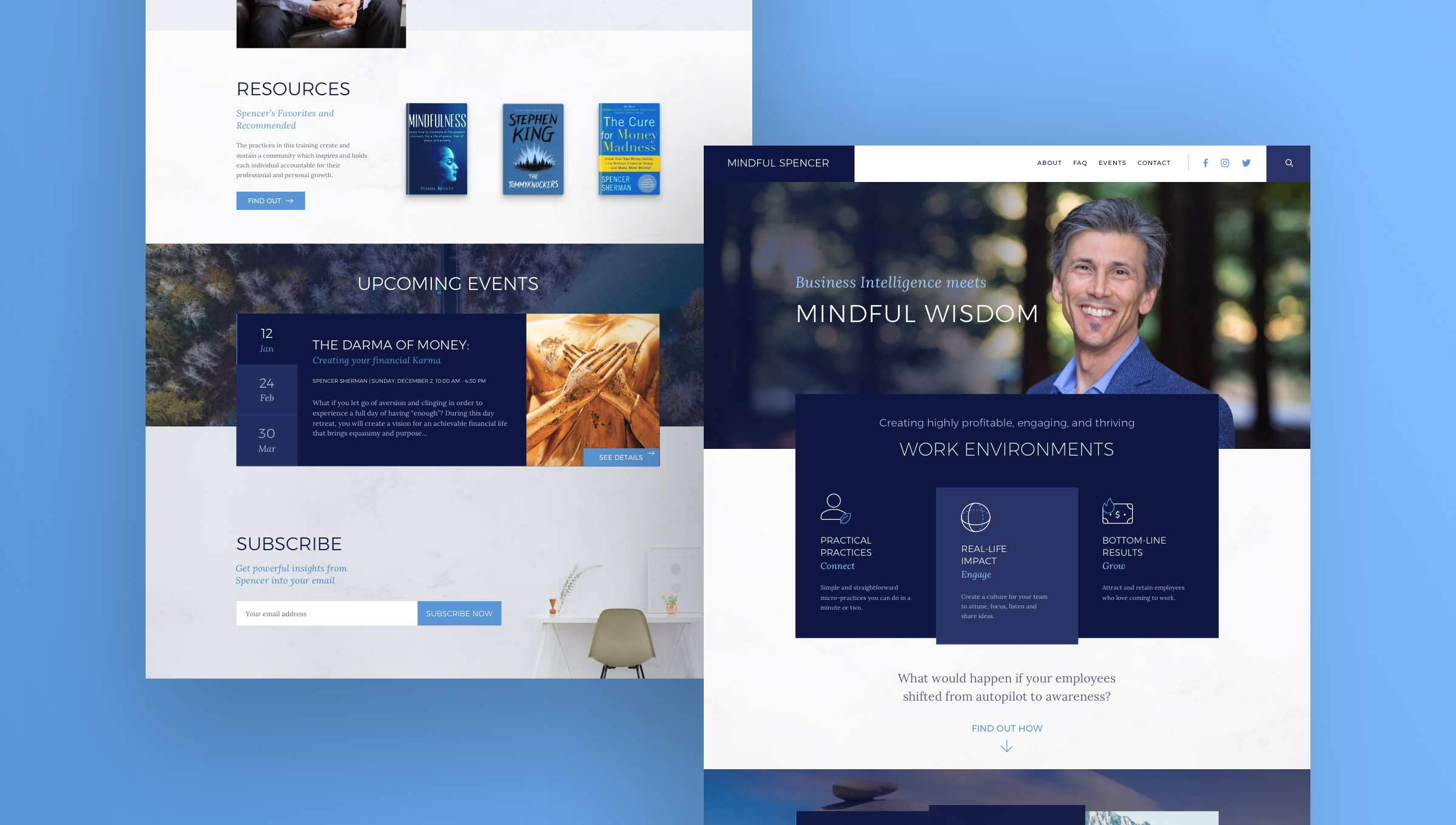 Mindful Spencer Web UI Design
