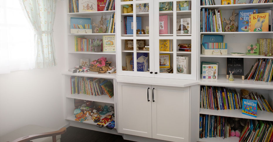 It's our love of words and literature that started our Kindy Cottage journey. And we focus on nurturing that feeling in children of all ages by creating this dedicated library space where children are free to investigate, discover and dream.