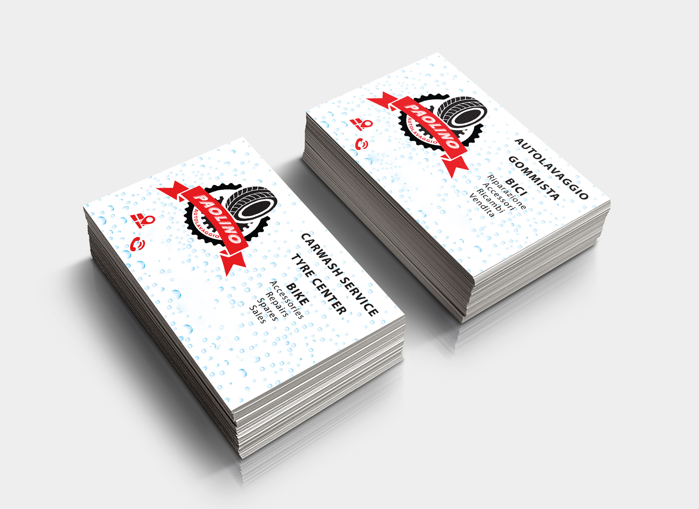 Bilingual business card