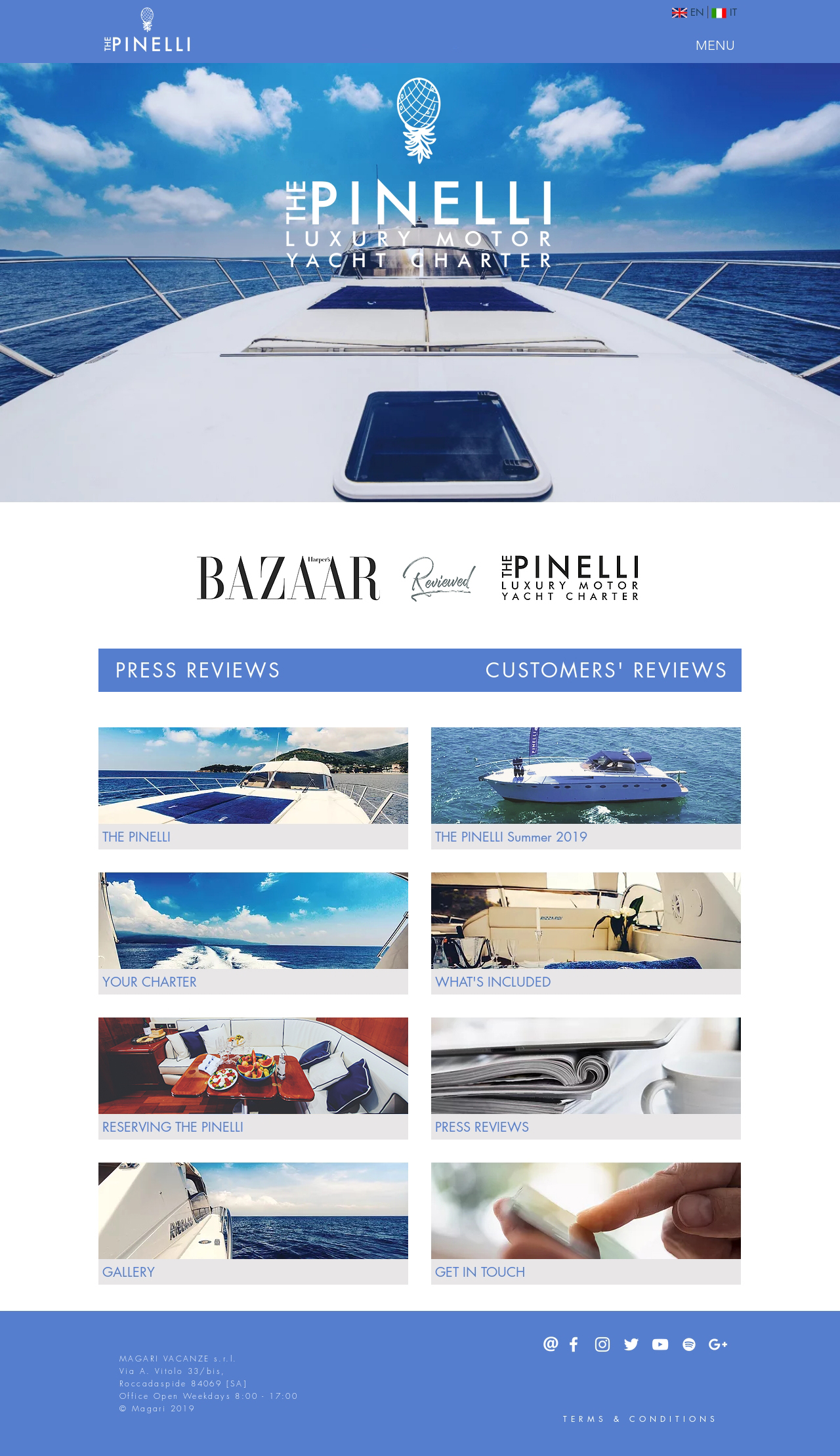 The Pinelli website