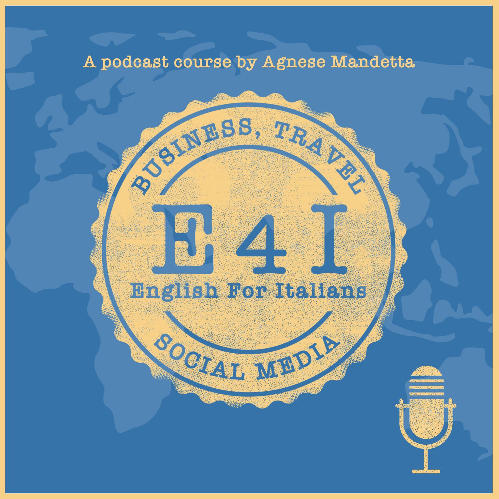 E4I English for Italians podcast cover