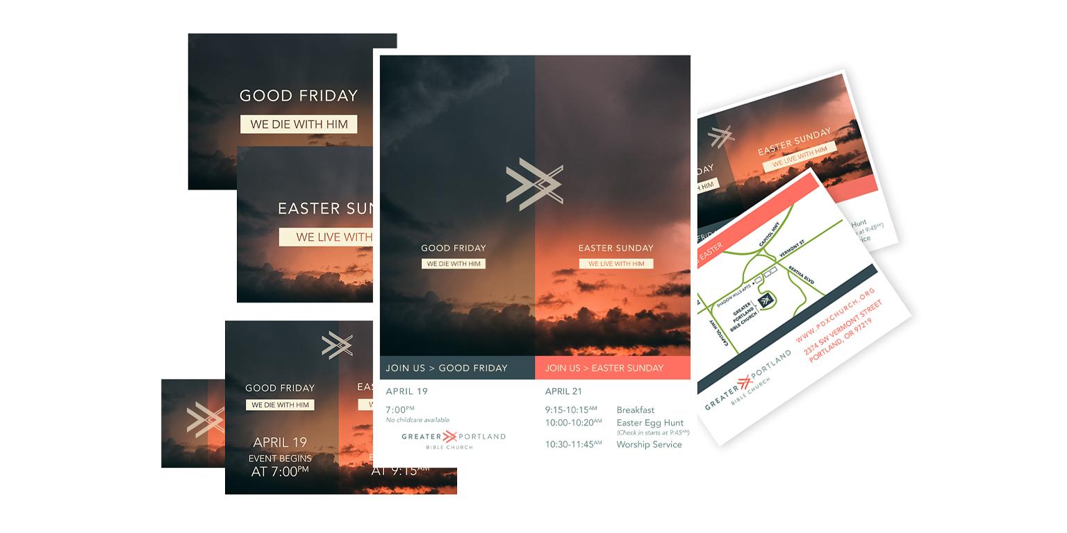 easter sermon series art design and development