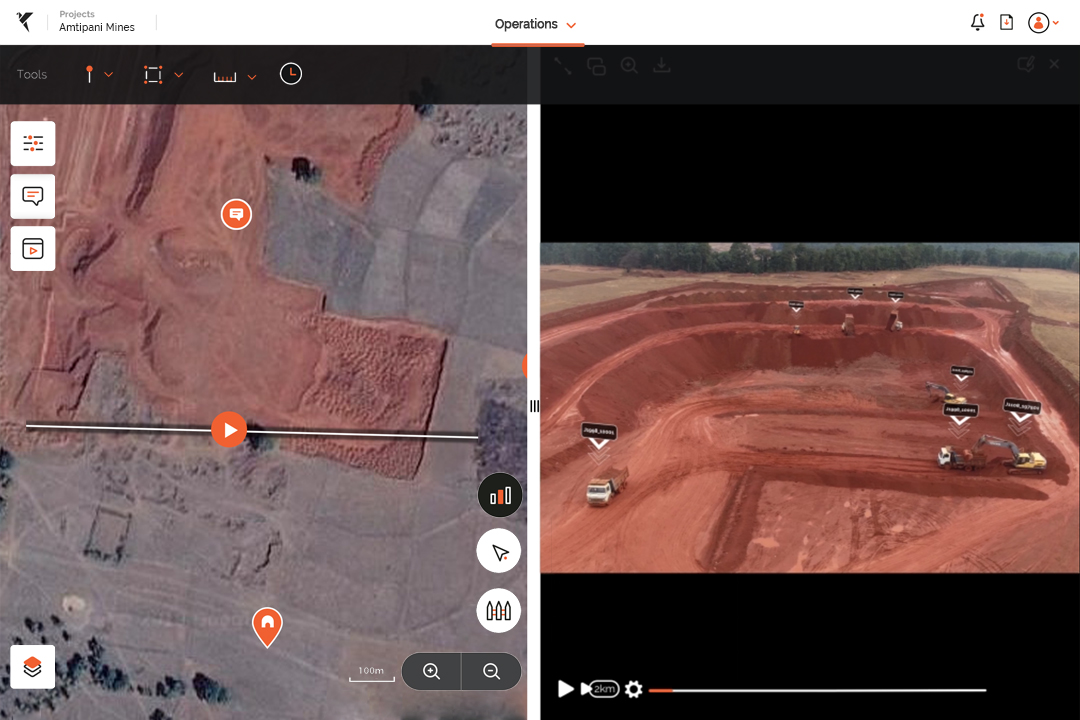 Drone data for mine monitoring