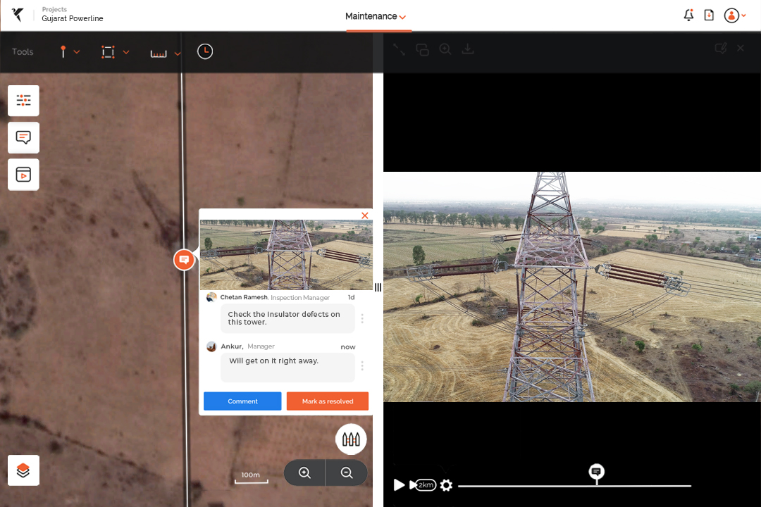 Drone data for pipeline and transmission line inspection
