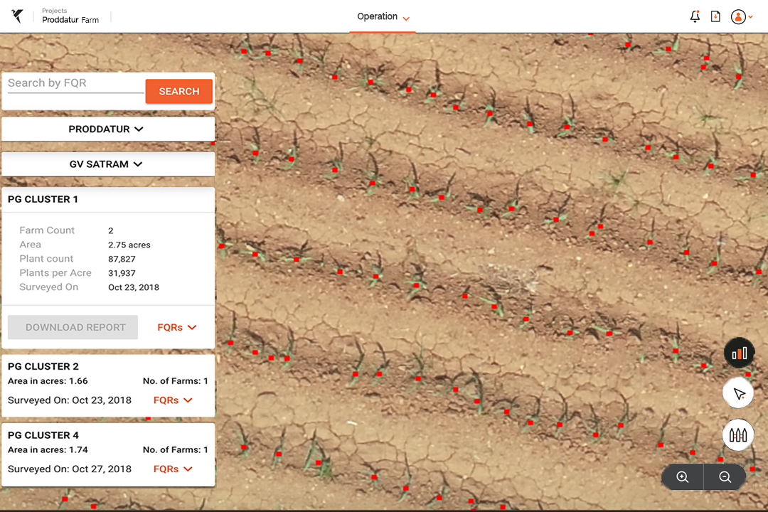 Drone data for crop insurance
