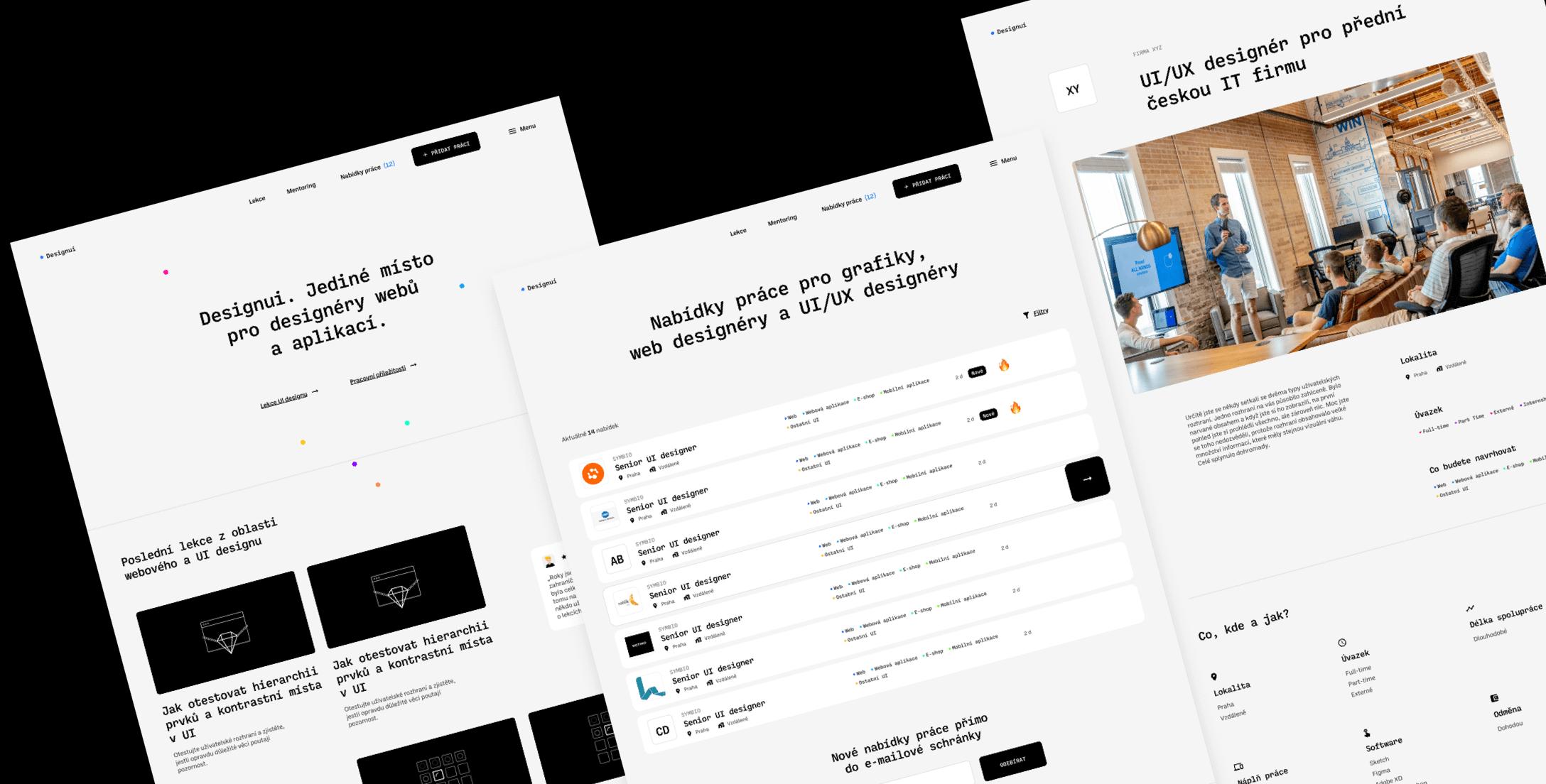 Ukázka návrhu projektu Designui