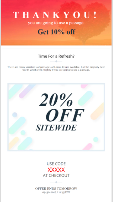 thank you emails example to boost your ecommerce sales