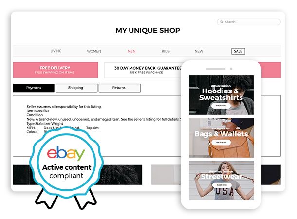 increase ebay sales with a mobile friendly listing templates