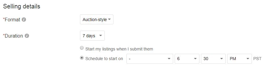 ebay auction fees