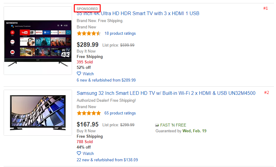 ebay sponsored listing example