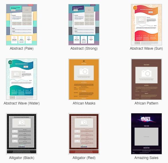 Auctiva eBay Listing Design Templates