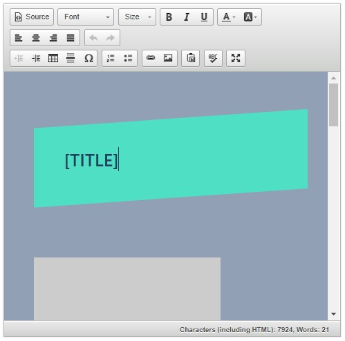 Auctiva's eBay design template editor