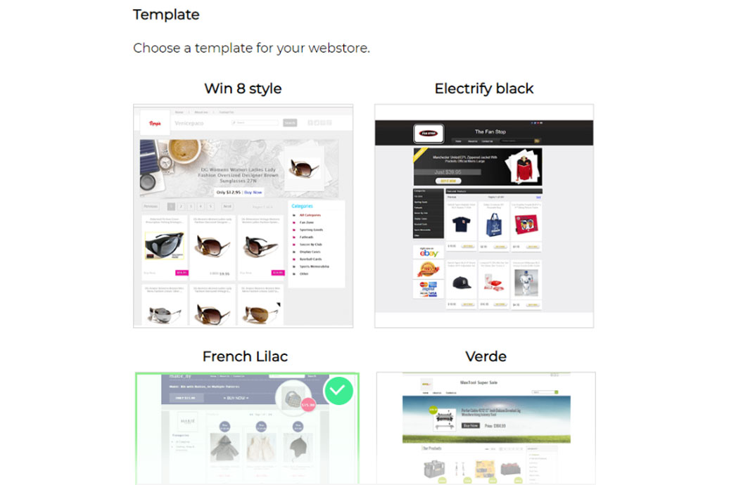 3Dsellers eBay Webstore templates