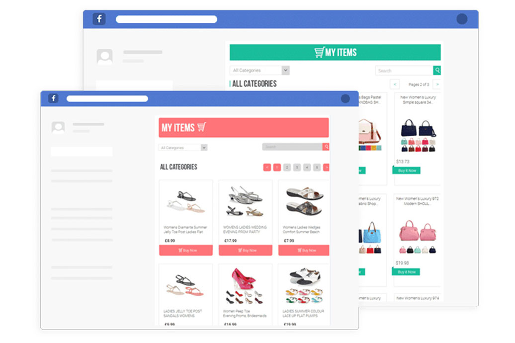 eBay Facebook Store by 3Dsellers