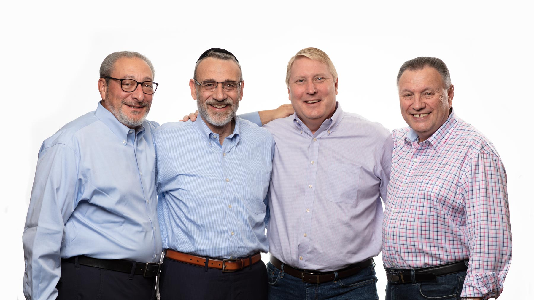 Image of Xeragenx Leadership together. Left to Right. Eric Moyerman, Jonathan Bortz, Joe Briner, and Brian Jenner.